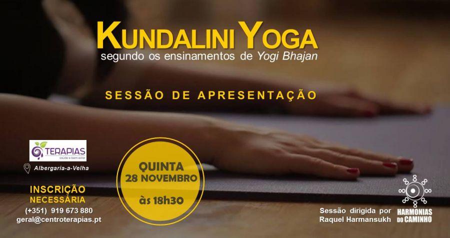 Kundalini Yoga - Sessão de Apresentação - 5ª feira, 28 Novembro, às 18h30