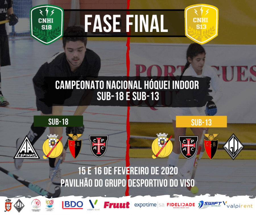 Fase Final do Campeonato Nacional de Hóquei Indoor - Sub-18 e Sub-13