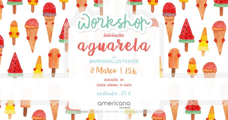 Workshop - Iniciação à Aguarela