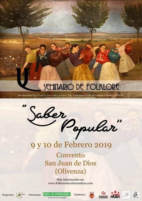 Seminario de Folklore 'Saber Popular'|| Convento Juan de Dios (Olivenza)