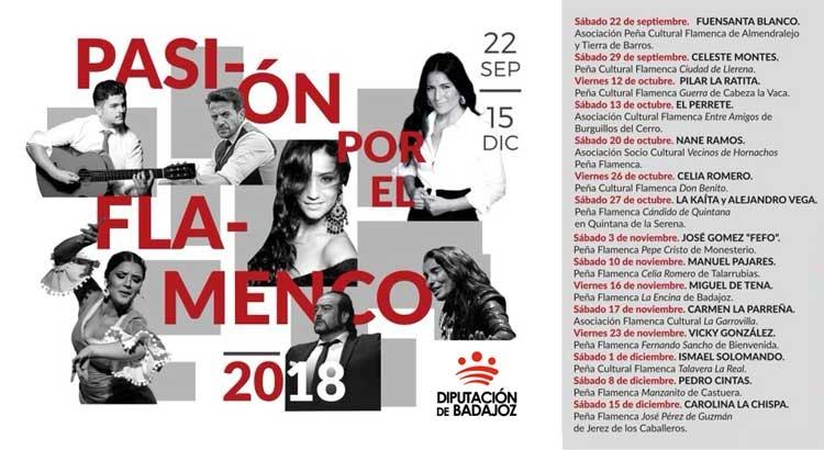 PASIÓN POR EL FLAMENCO 2018 | Diputación de Badajoz