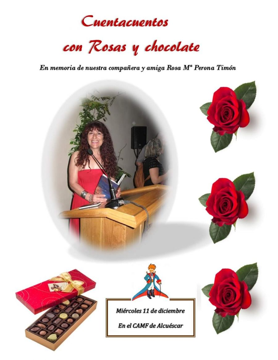 Cuenta Cuentos con Rosas y Chocolate