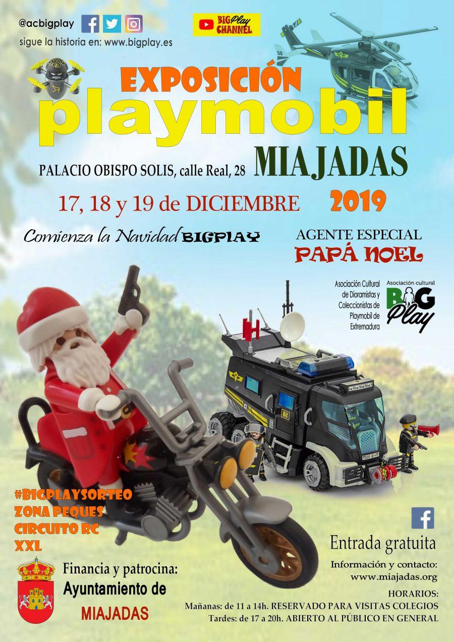 Exposición Playmobil Miajadas 2019 Agente Especial PAPÁ NOEL