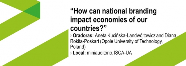 Aula aberta com o tema ''How can national branding impact economies of our countries?""