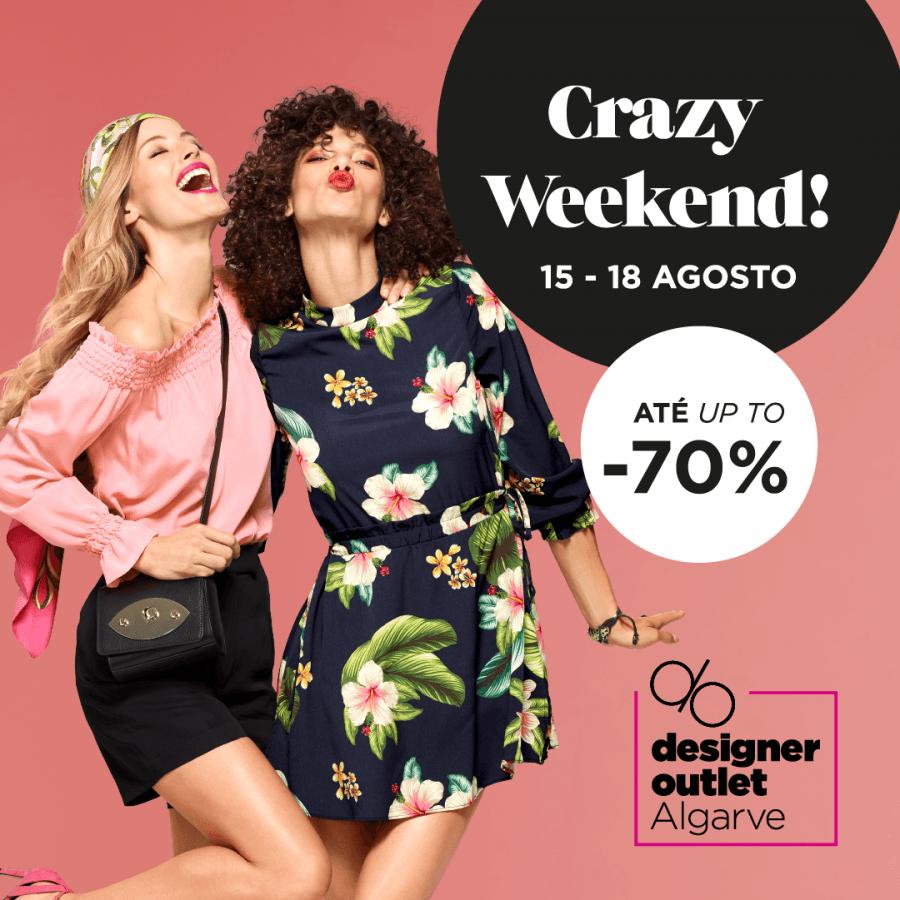 Crazy Weekend: Designer Outlet Algarve com descontos exclusivos até 70% durante quatro dias