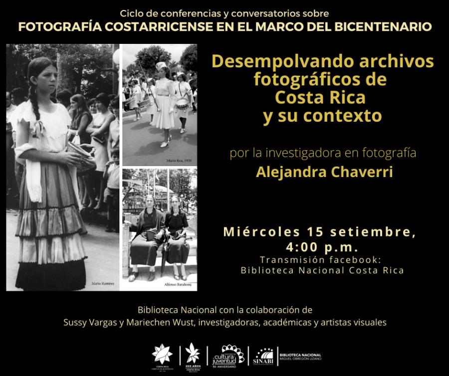 Conferencia. Desempolvando archivos fotográficos de Costa Rica y su contexto.
