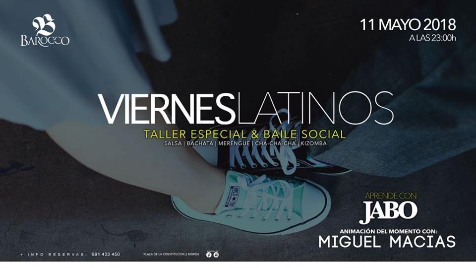 VIERNES LATINOS EN BAROCCO || Taller especial & Baile social