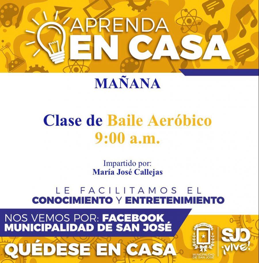 Baile Aeróbico. Impartido por María José Callejas. Aprenda en casa.