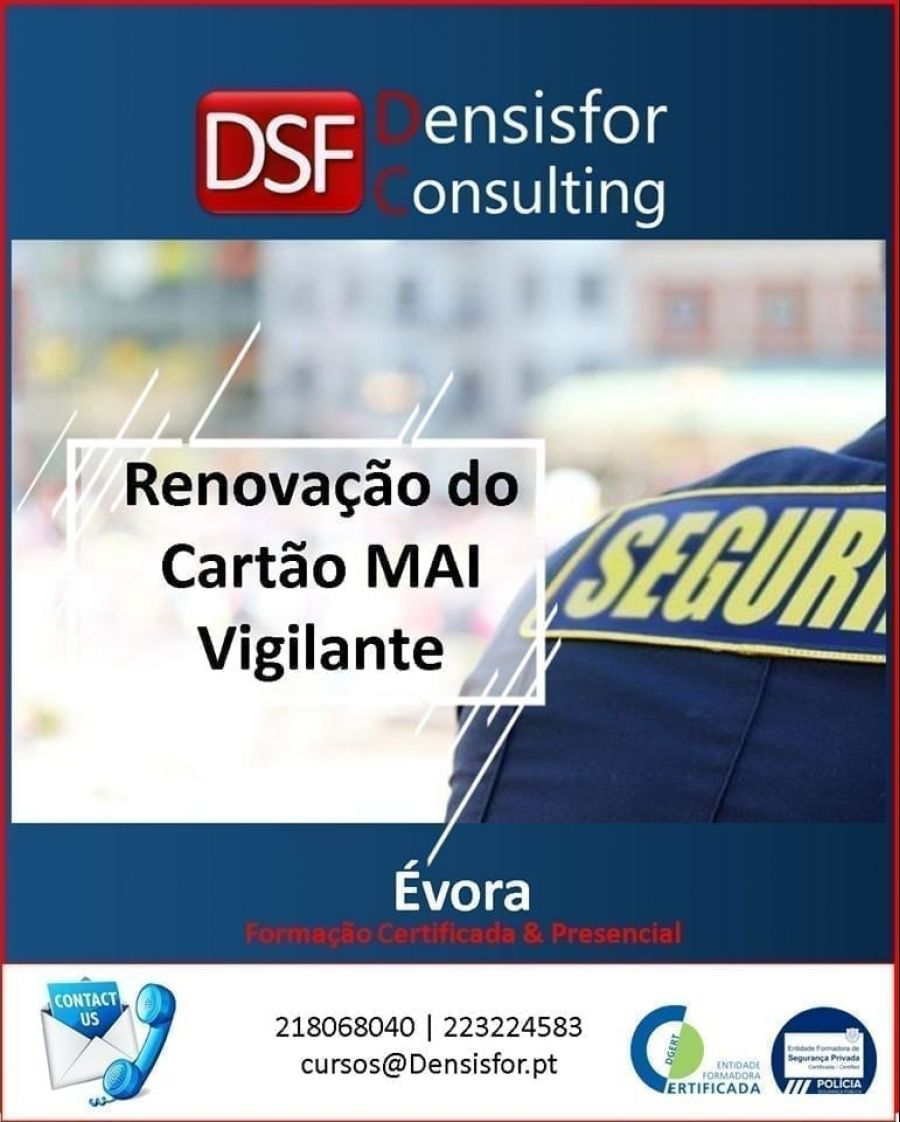 22 de Novembro: Renovação do Cartão MAI Vigilante