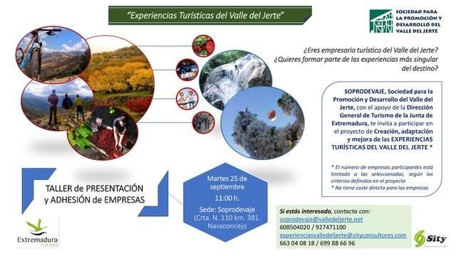 Creación de Experiencias Turísticas del Valle del Jerte