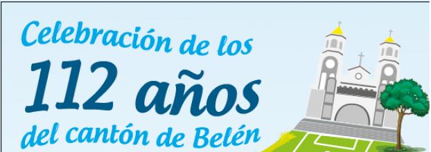 Celebración de 112 años del cantón de Belén. Talleres, presentaciones y juegos