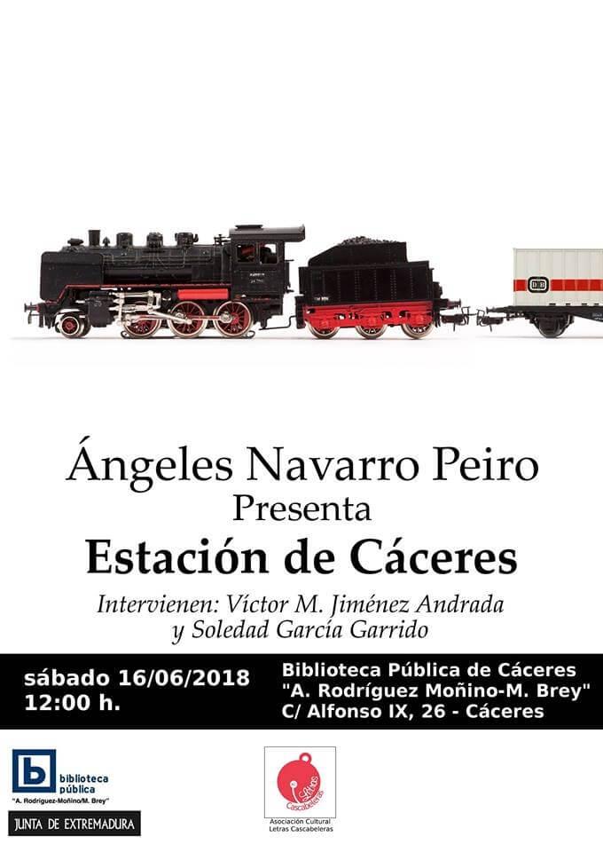 Presentación del libro 'Estación de Cáceres' de Ángels Navarro