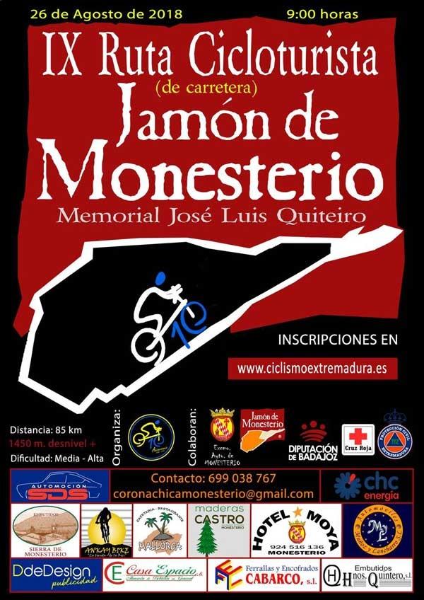 "IX RUTA CICLOTURISTA ""JAMÓN DE MONESTERIO"""