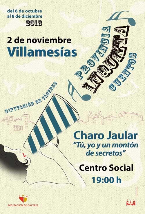 Provincia inquieta | CUENTACUENTOS: Charo Jaular