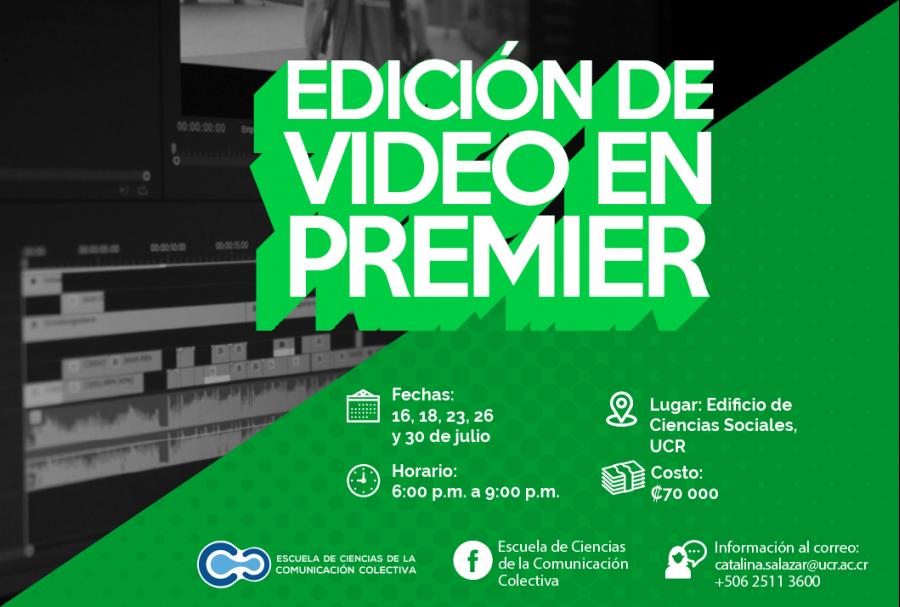 Edición de video en Premier. Rogelio Jiménez. Curso