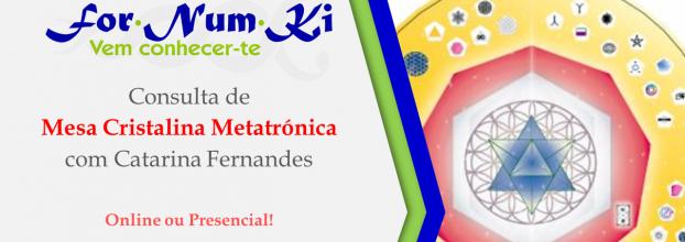 Consultas - Mesa Cristalina Metatrónica com Catarina Fernandes
