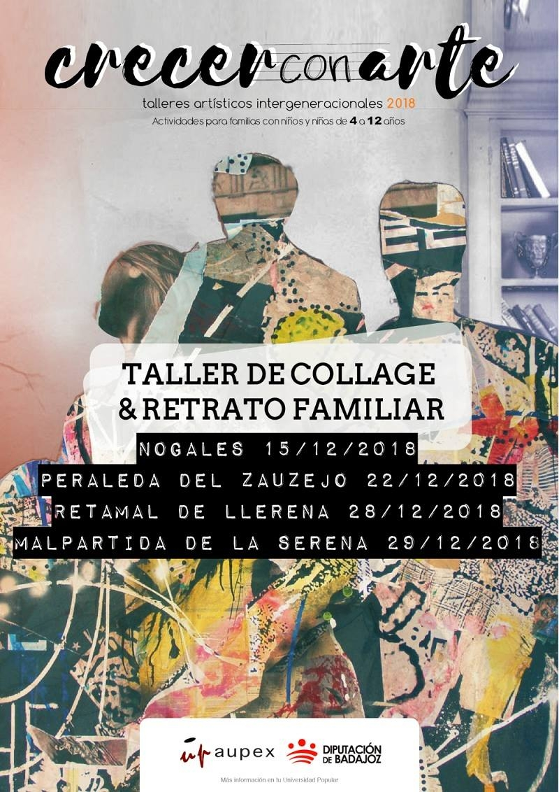 Crecer con arte || taller de collage & retrato familiar