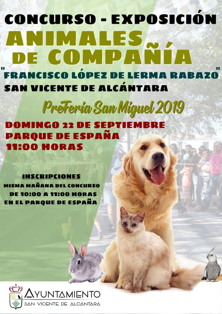 CONCURSO - EXPOSICIÓN DE ANIMALES DE COMPAÑÍA 'Francisco López de Lerma Rabazo'