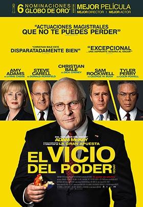 Proyección EL VICIO DEL PODER (Adam McKey, EE.UU.) VOSE