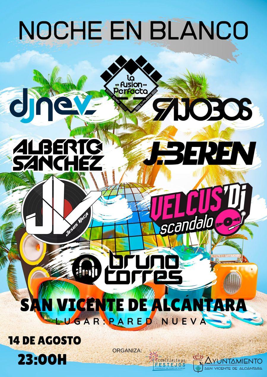 NOCHE DE DJ'S NOCHE EN BLANCO