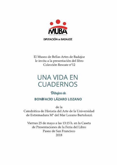 Presentación «Una vida en cuadernos» || Feria del Libro de Badajoz