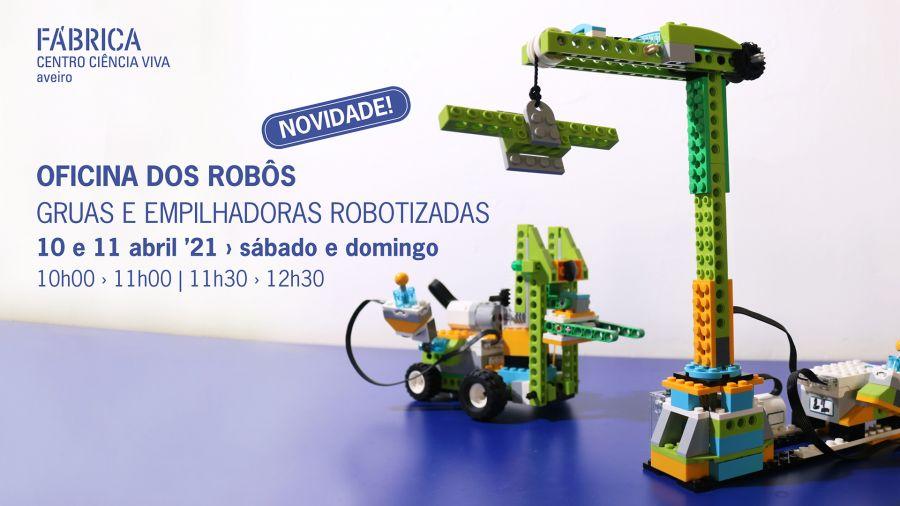 Oficina dos Robôs - Gruas e empilhadoras robotizadas