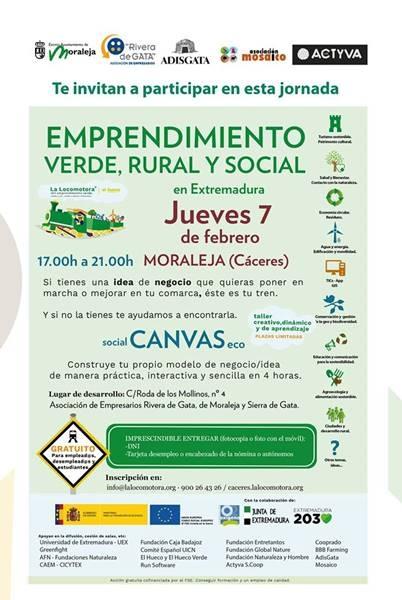 Jornada 'Emprendimiento Verde, Rural y Social' | MORALEJA
