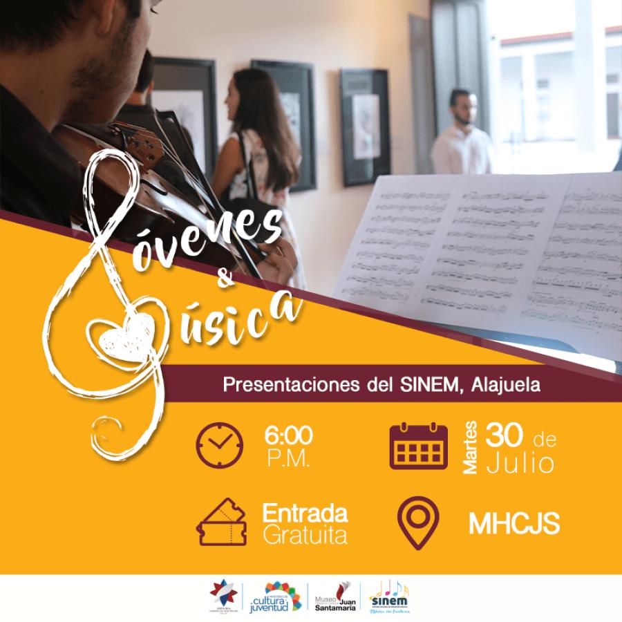 Jóvenes y música. Estudiantes del SINEM Alajuela