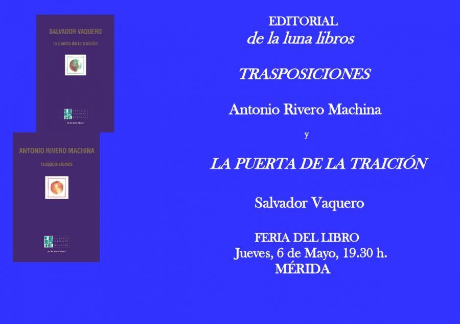 Presentación de los libros de Salvador Vaquero y Antonio Rivero Machina en la Feria del Libro de Mérida