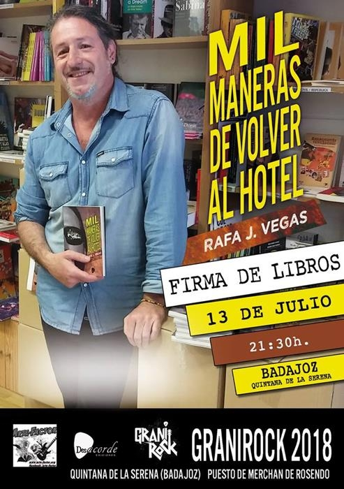 Firma de libros «Mil maneras de volver al hotel», de Rafael J. Vega
