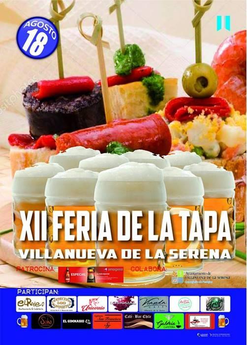 XII FERIA DE LA TAPA    Villanueva de la Serena