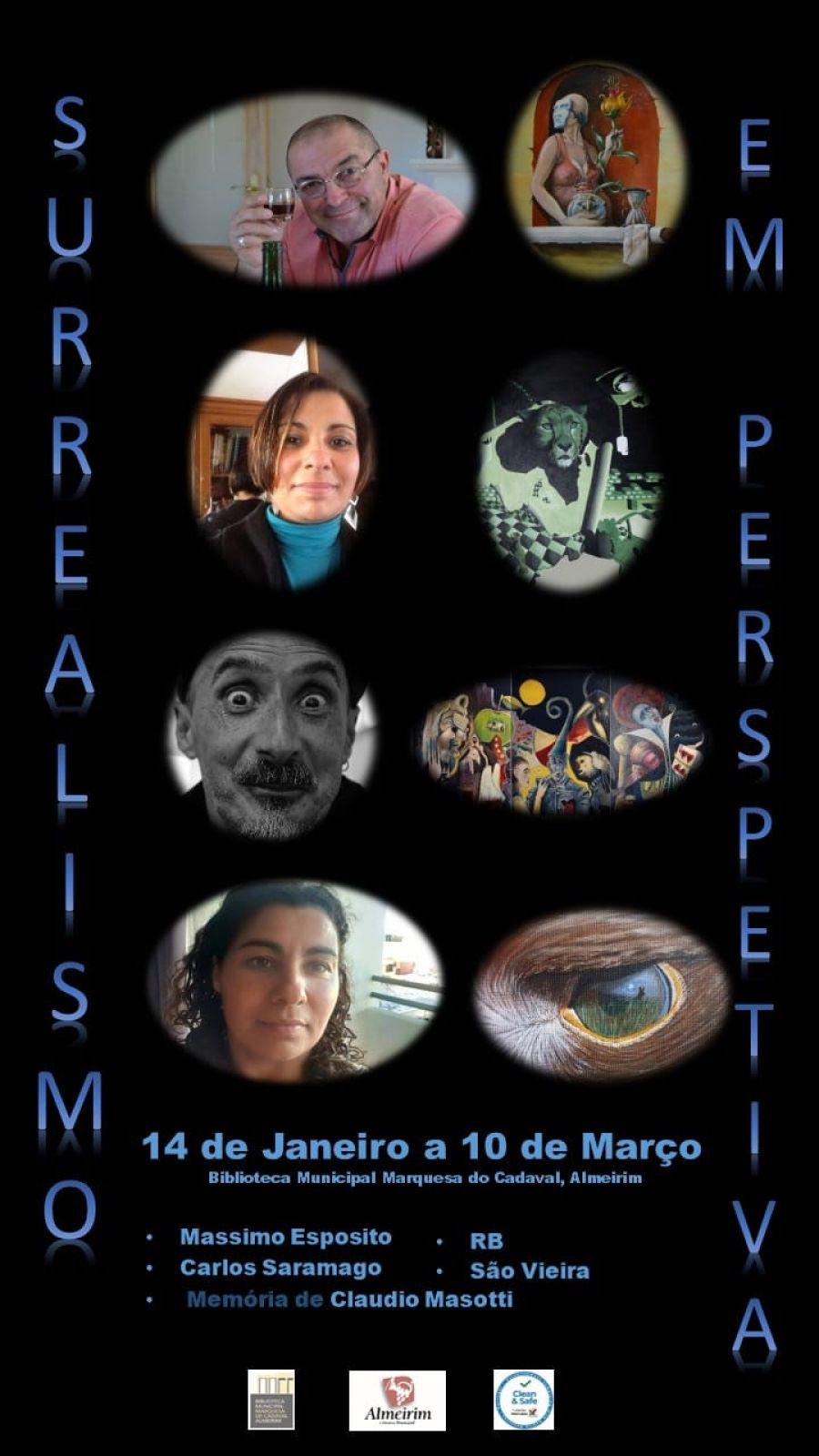 Exposição de pintura- coletiva | Surrealismo em perspetiva | 14 a 10 de Março 2021 | Biblioteca Municipal Marquesa do Cadaval, Almeirim
