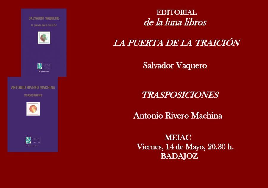 Presentación de los libros de Antonio R. Machina y Salvador Vaquero en Badajoz