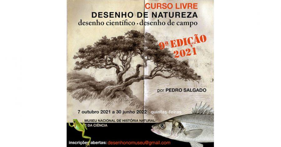 DESENHO DE NATUREZA desenho de campo - desenho científico   curso livre   9ª edição   por Pedro Salgado