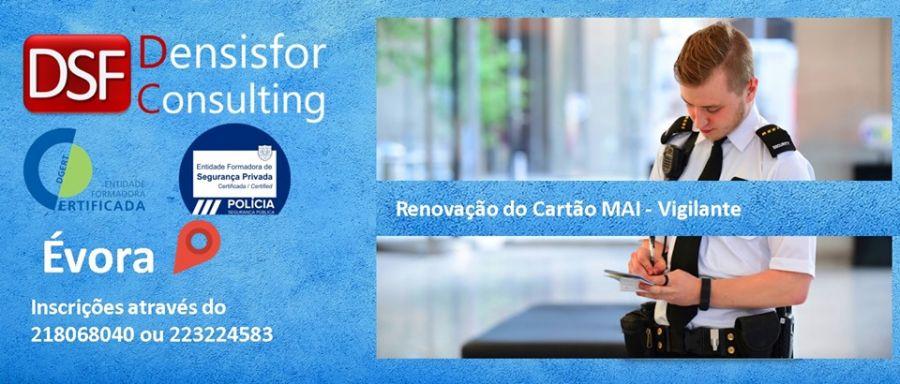 Renovação do Cartão de Vigilante - Évora