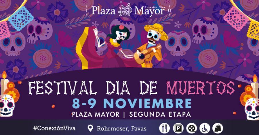 Festival Día de Muertos. Gastronomía, maquillaje y artesanías