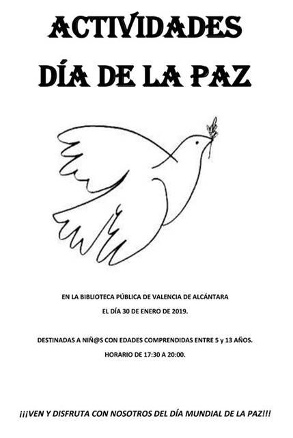 Actividades DÍA DE LA PAZ || Valencia de Alcántara