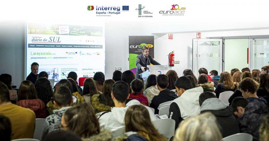 NOTICIA | Estudiantes de Alentejo, Centro y Extremadura participan en el Encuentro de Jóvenes Periodistas de la EUROACE