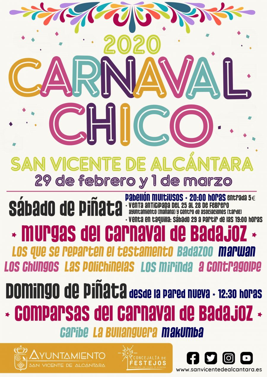 CARNVAL CHICO 2020 SAN VICENTE DE ALCÁNTARA