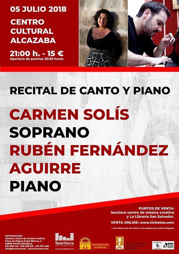 Recital de canto y piano || Centro Cultural Alcazaba