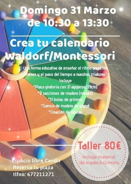 Taller: Crea tu propio calendario anual WALDORF/MOTESSORI