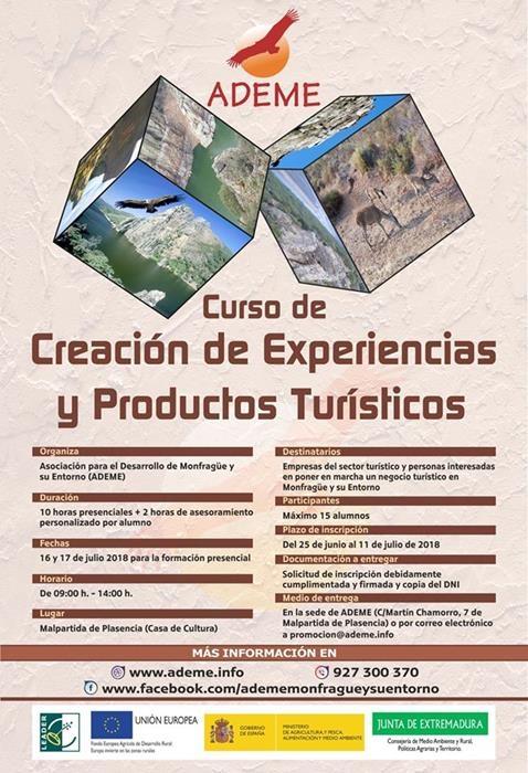 CURSO DE CREACIÓN DE EXPERIENCIAS Y PRODUCTOS TURÍSTICOS