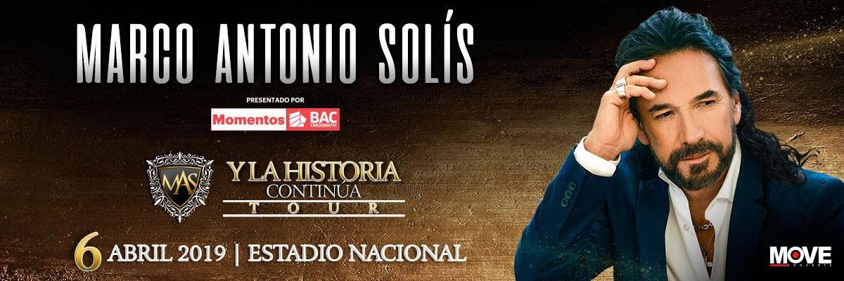 Y la historia continúa tour. Marco Antonio Solís. Cantante, baladas