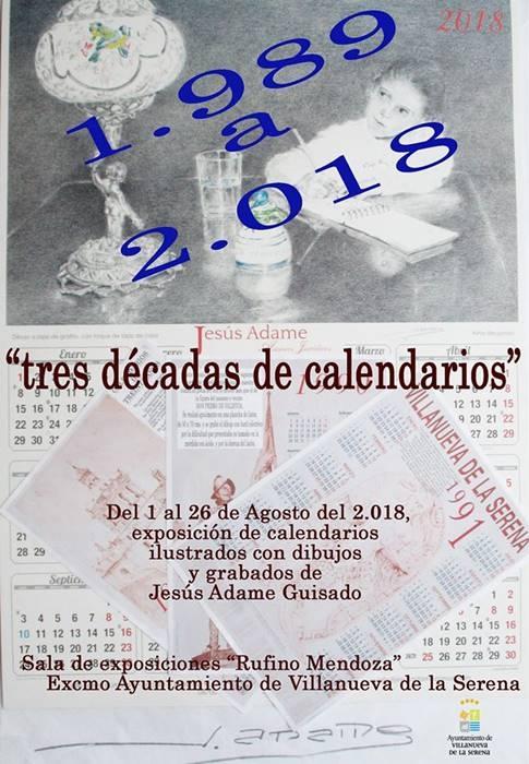 Exposición 'Tres décadas de calendarios' de Jesús Adame Guisado