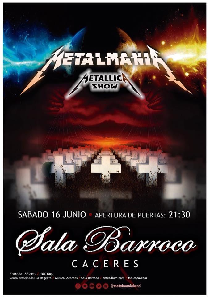 Tributo a Metallica en Sala Barroco