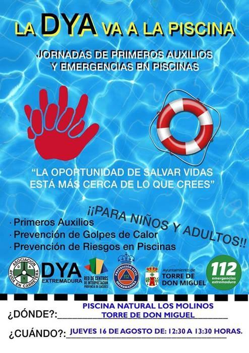 Jornada de Primeros Auxilios y Emergencias en Piscinas || Torre de Don Miguel