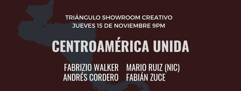 Centroamérica unida. Fabrizio Walker, Mario Ruiz y otros. Solistas, nueva canción latinoamericana