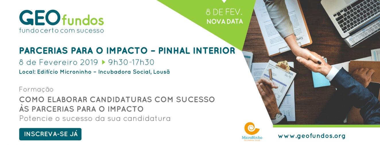 Como elaborar candidaturas com sucesso às Parcerias com Impacto - Pinhal Interior