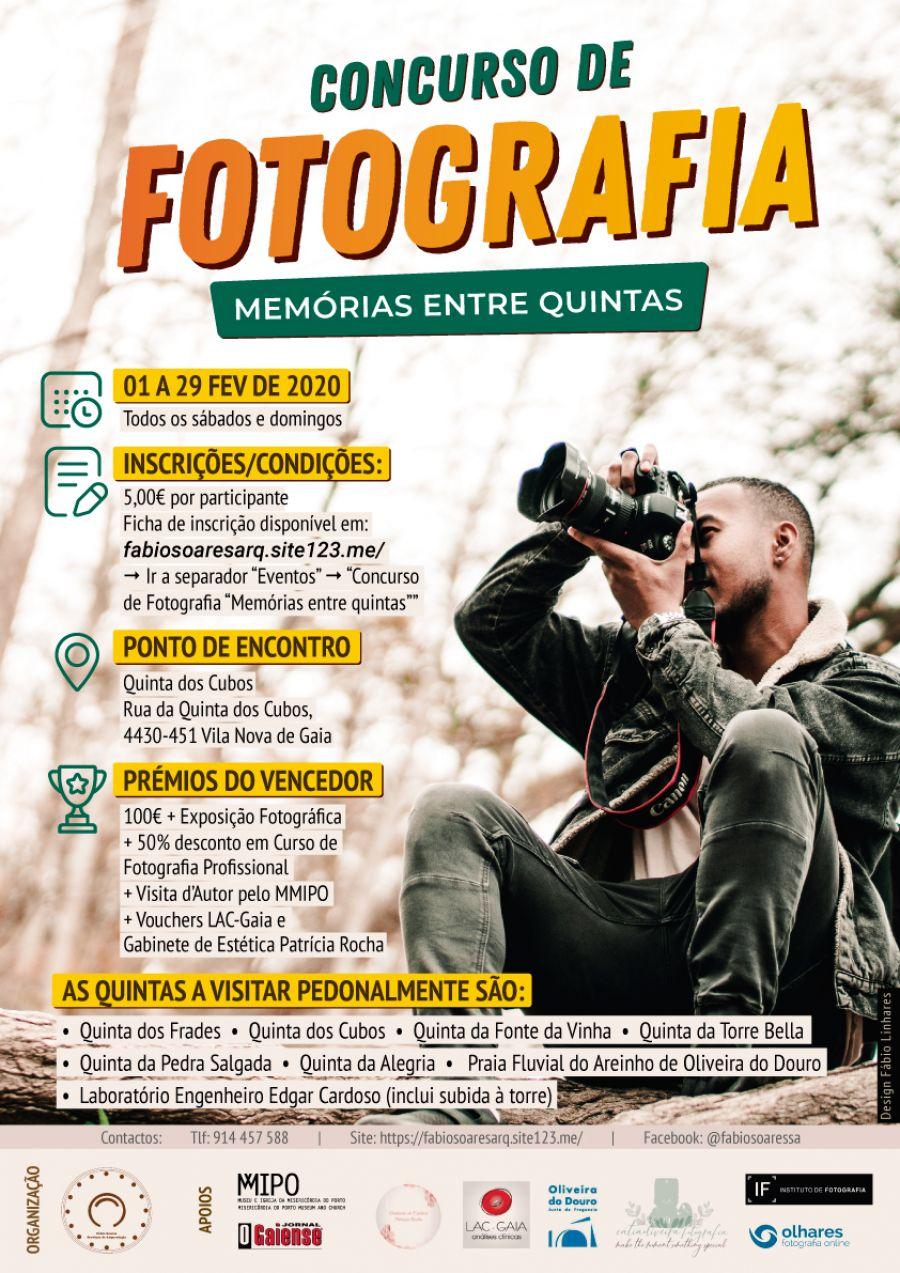 Concurso de Fotografia Memórias entre quintas | 01 a 29 FEV 2020