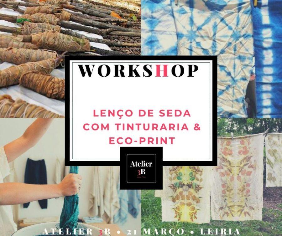 Workshop de Lenço de Seda com Tinturaria & Eco-Print